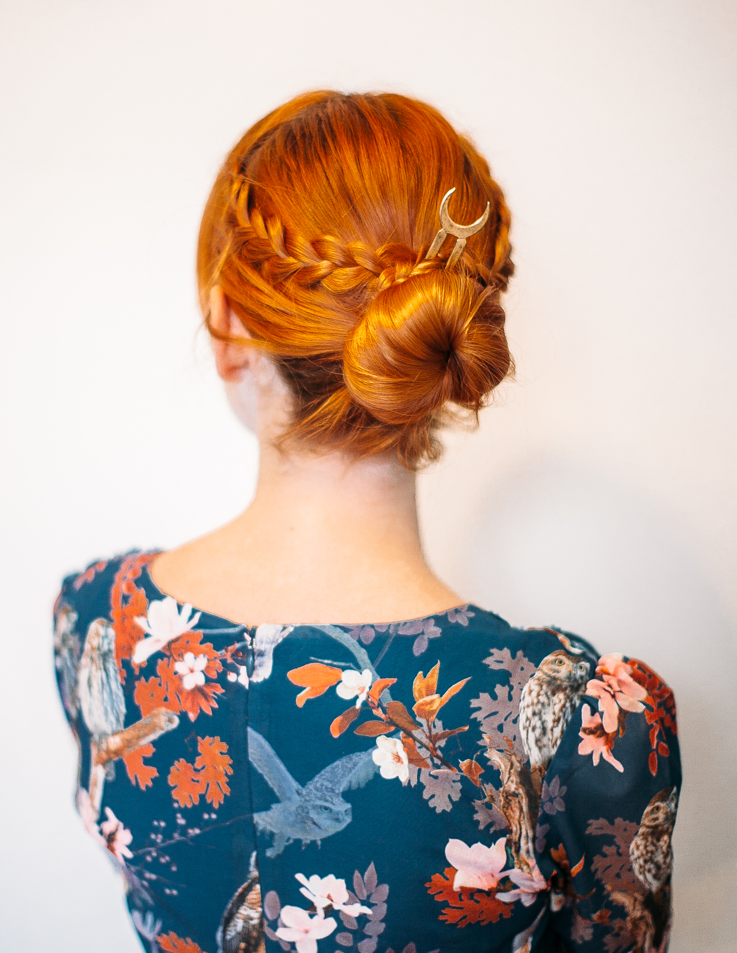 The five minute braided bun (click through for the full tutorial)