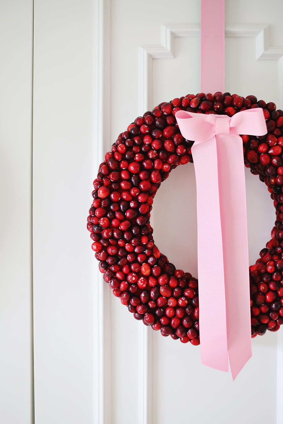 Cranberry Wreath DIY