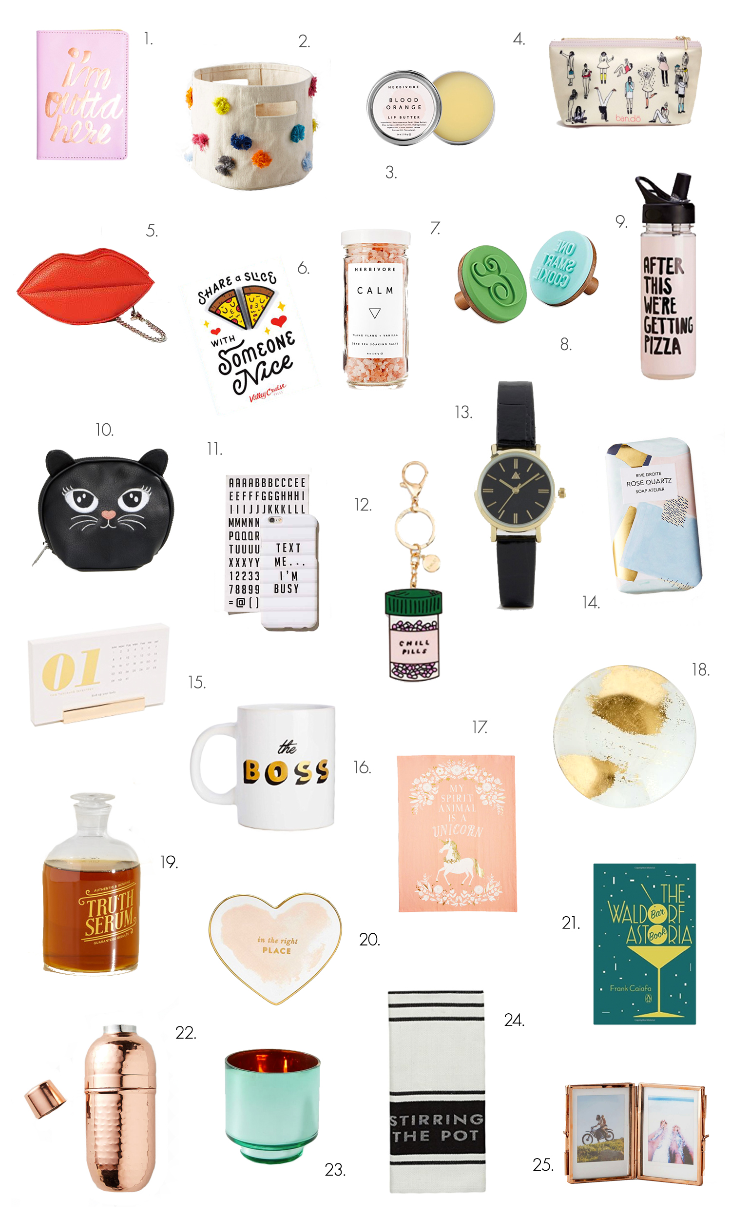 25 awesome gifts under $25! (click through for more!)