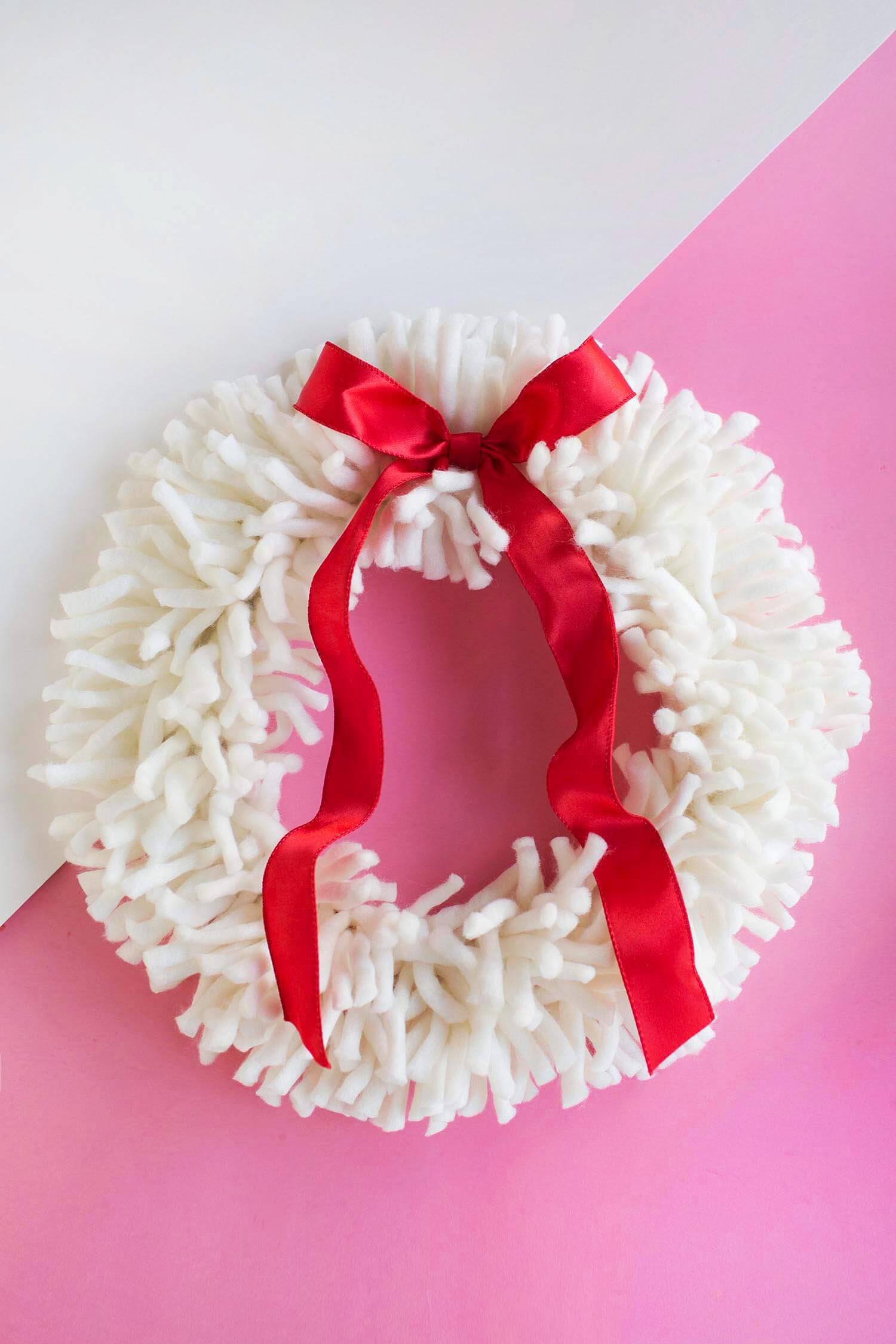 DIY Yarn Wreath (from abeautifulmess.com)