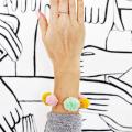 Pom-Pom Bracelet DIY  - December 20, 2016