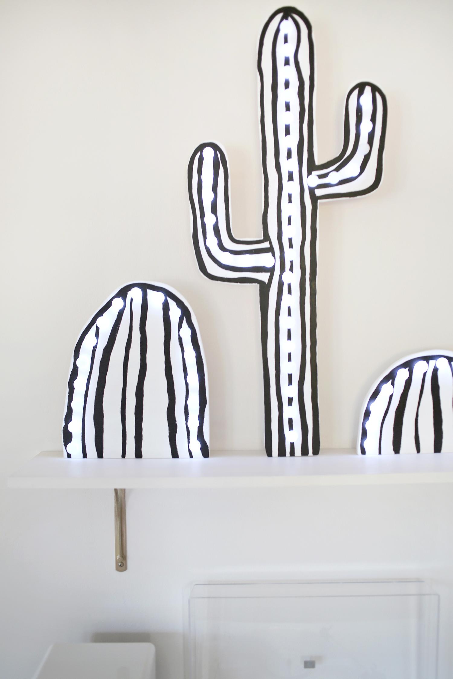 Cactus Marquee Sign DIY