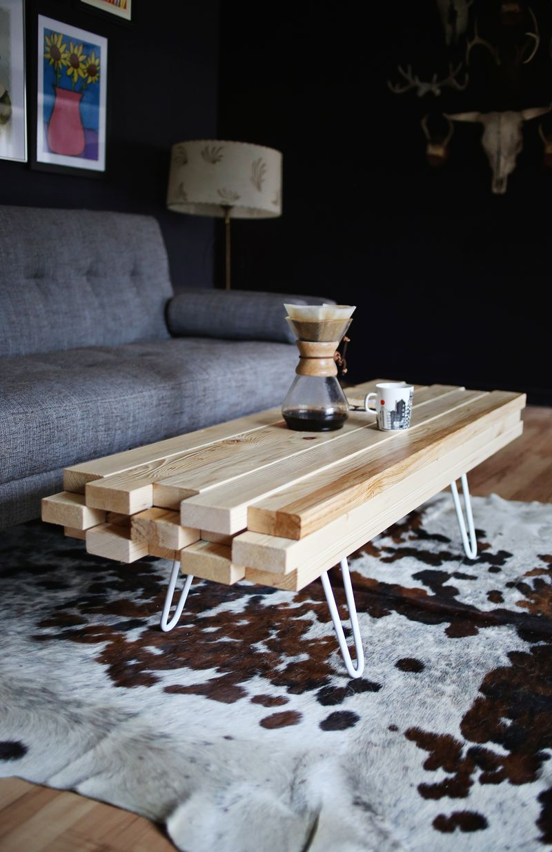 Easy diy wooden coffee table