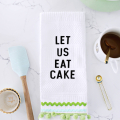 Embroidered Phrase Kitchen Towel DIY (No-Sew!)  - January 23, 2017