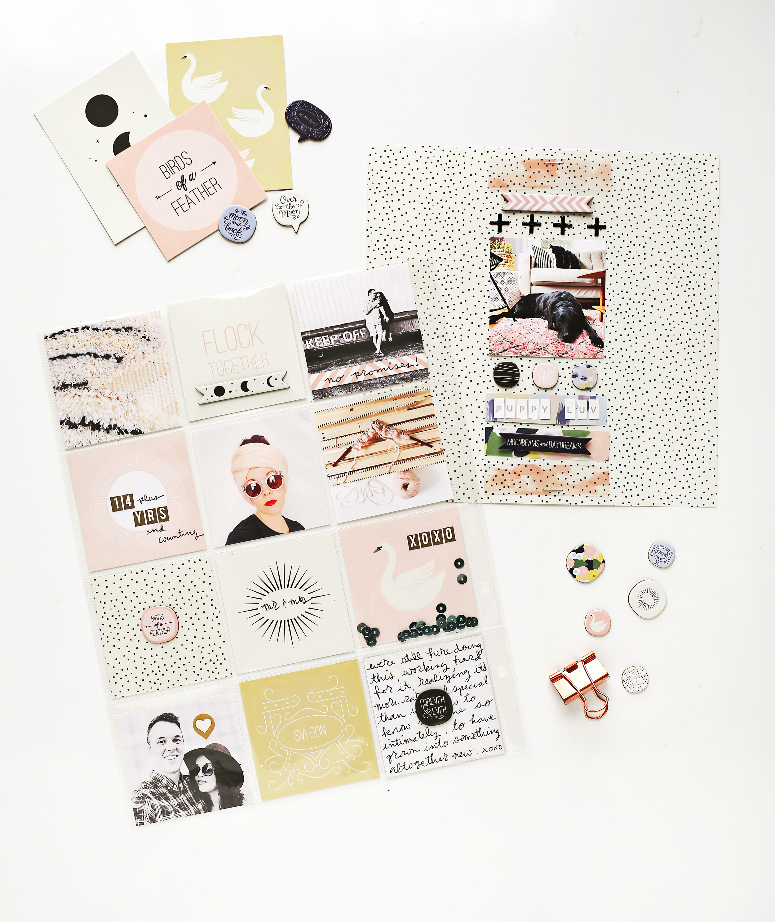 How to scrapbook faster - Scrapbook Sunday The January Messy Box