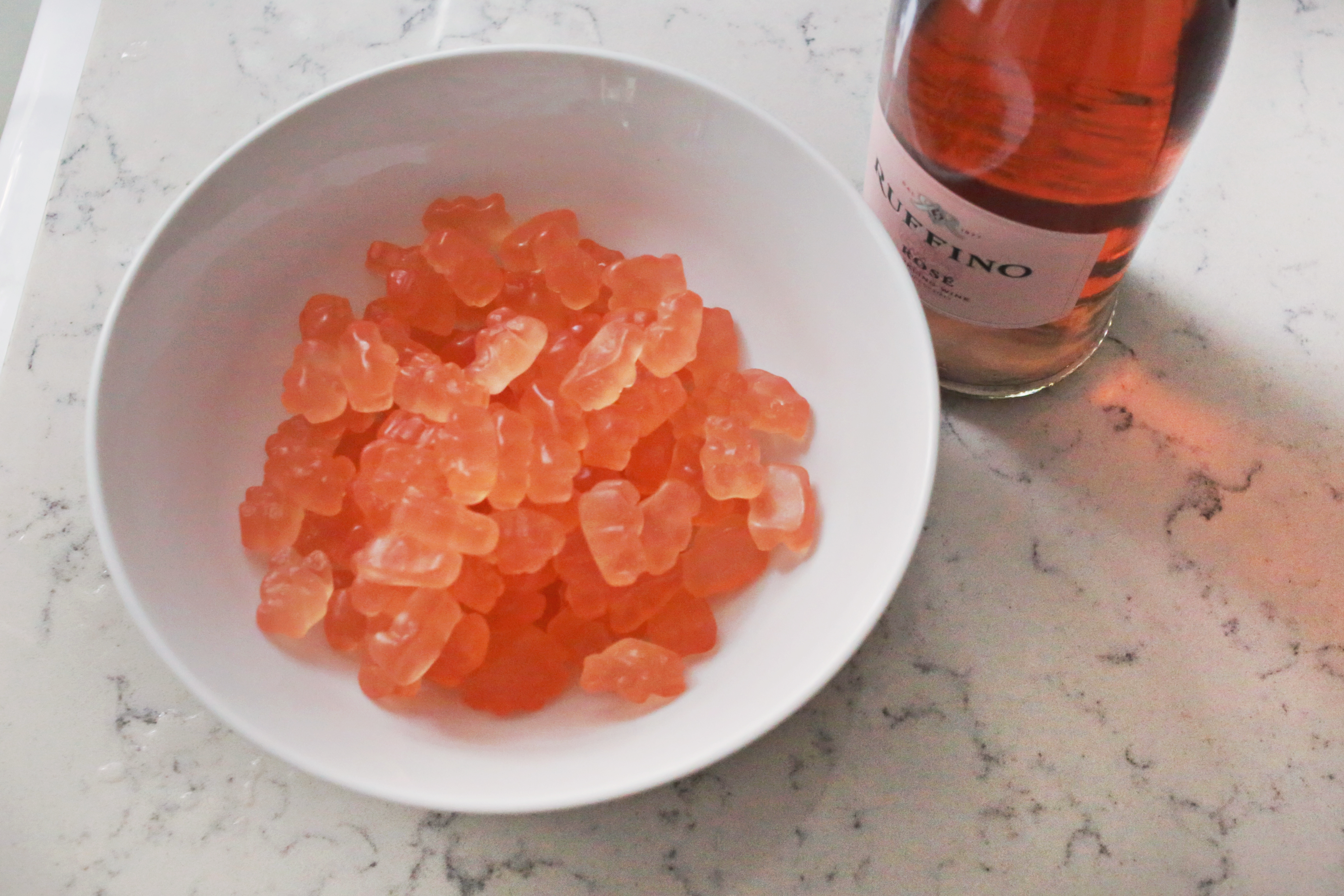 Rosé Gummy Bears (they're super easy to make!)