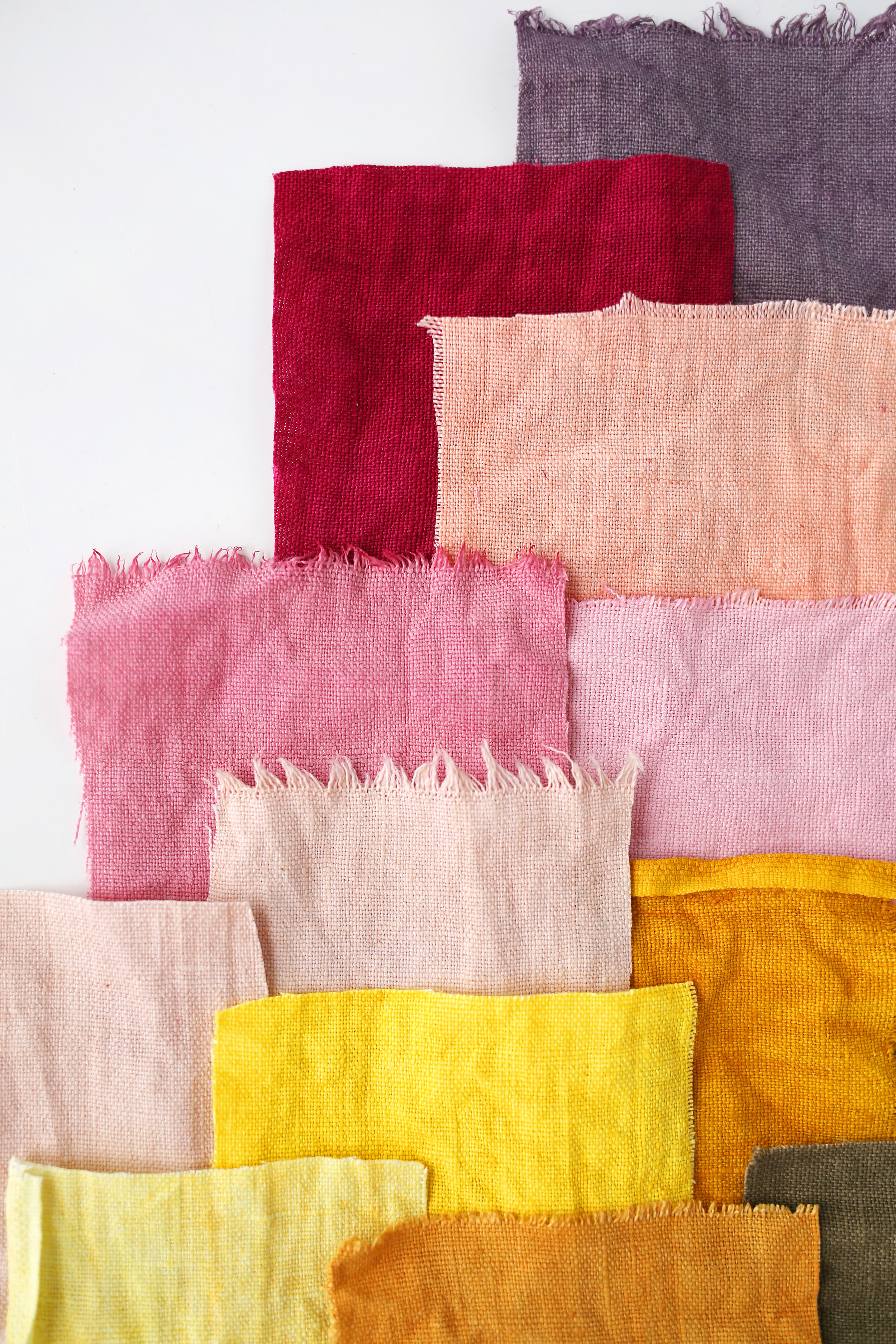 A wide range of colors from natural dyes