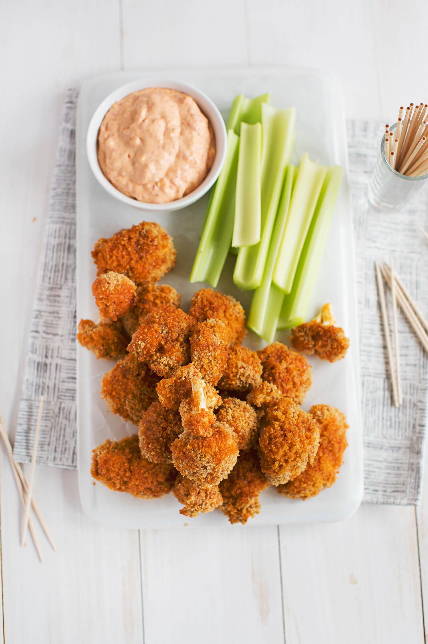 Spicy Pimento Cauliflower Bites (via abeautifulmess.com)