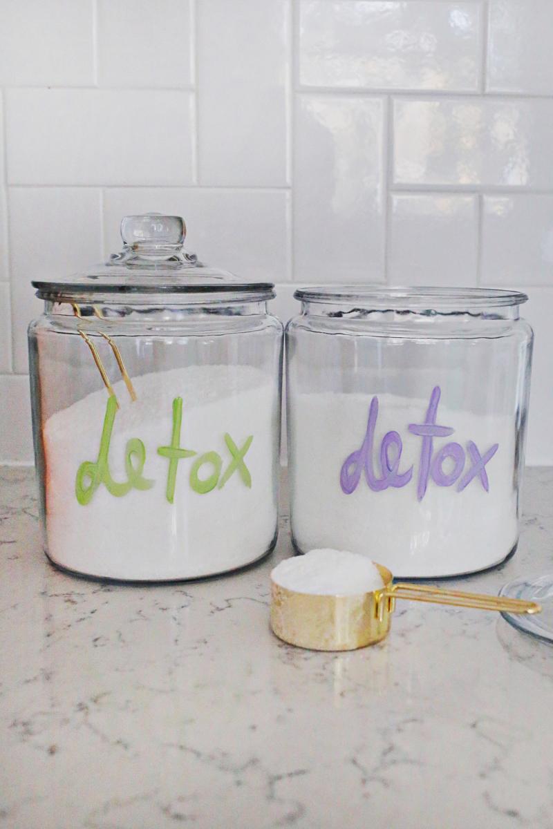 Epson Salt Detox Bath Salts (via A Beautiful Mess)