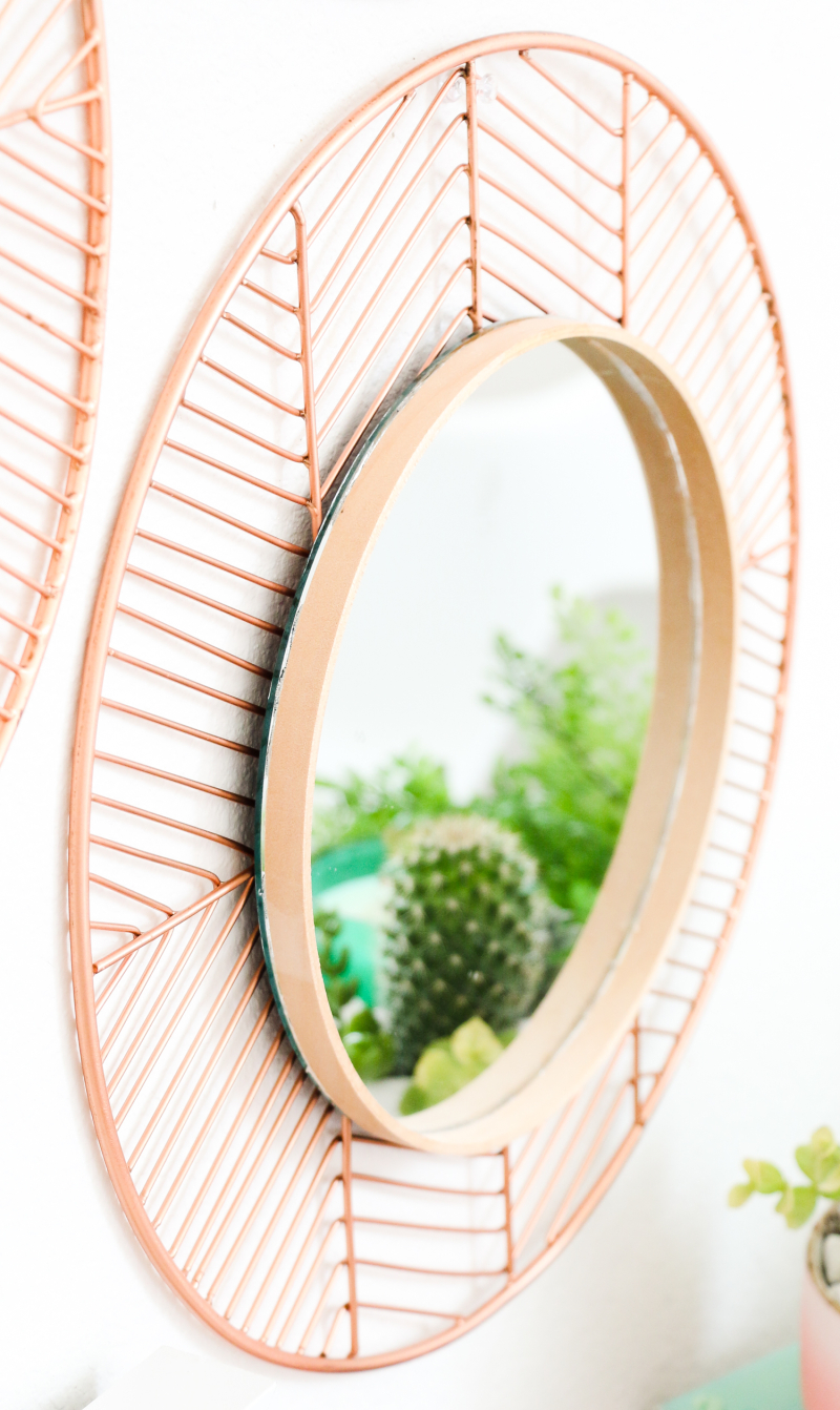 DIY Copper and Wood Mirrors (Click Through For Tutorial)