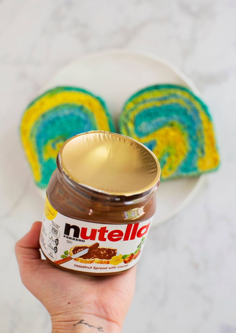Nutella gold foil top