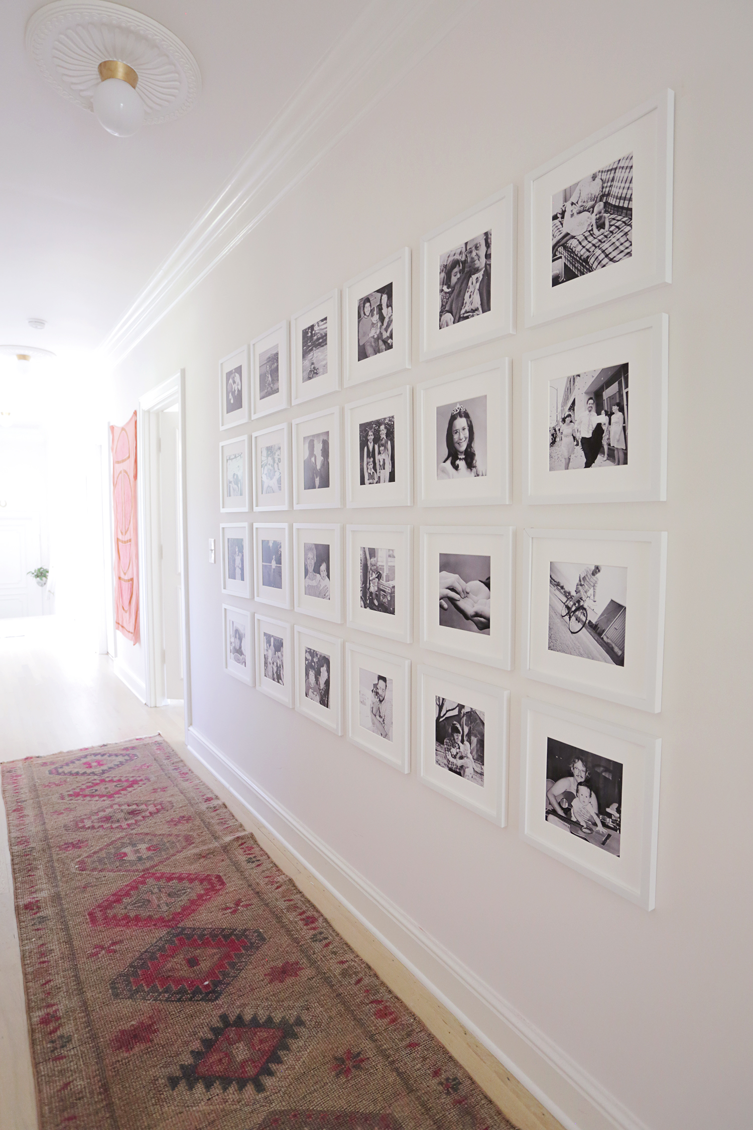Giant family gallery wall