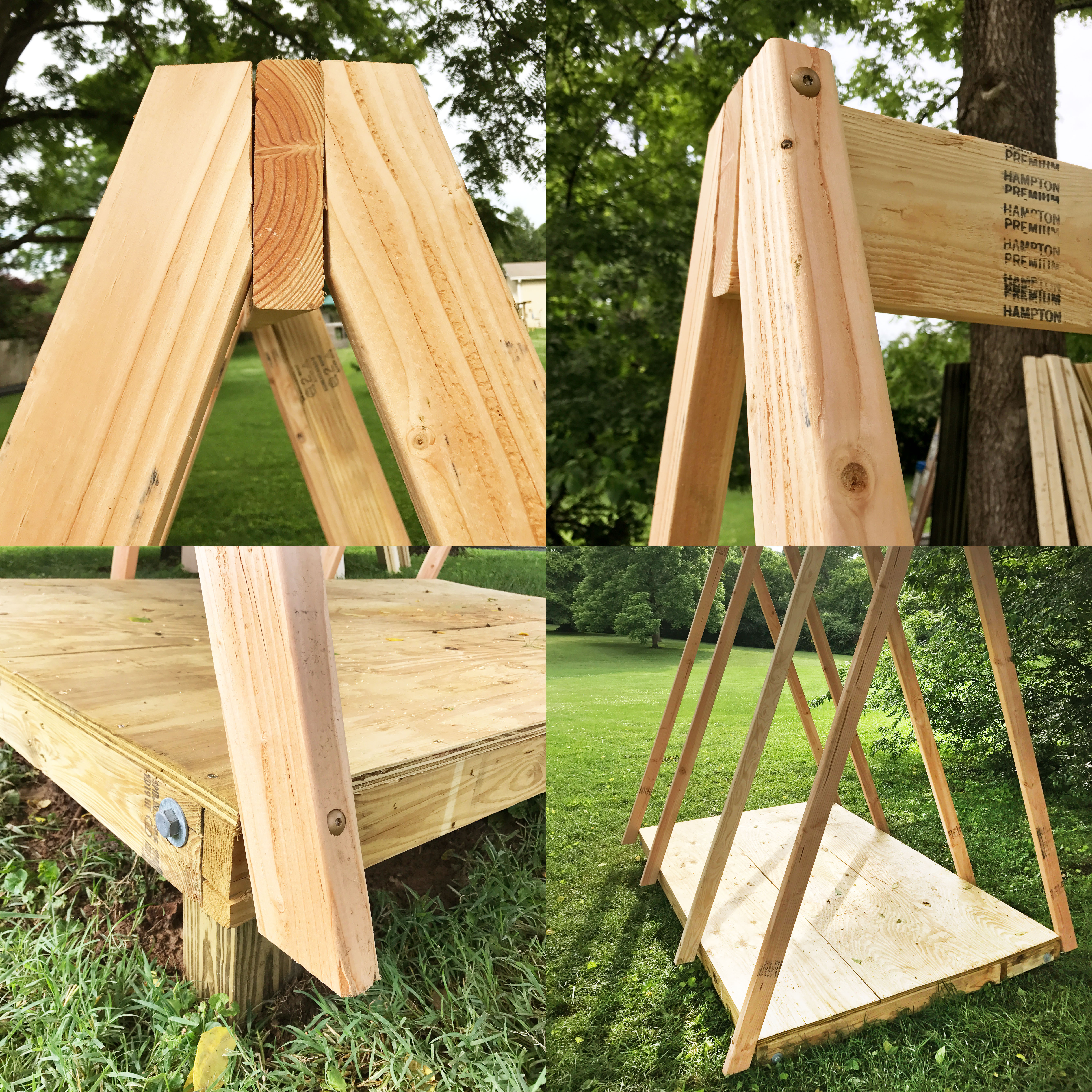 A-Frame Playhouse DIY (click through for toturial!)