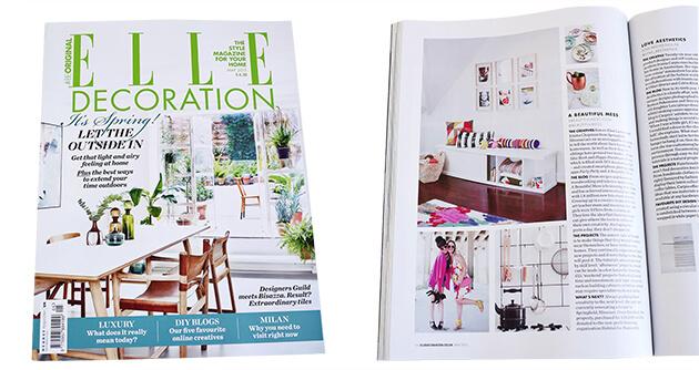 Elle Decoration UK Magazine - A Beautiful Mess Press Photos