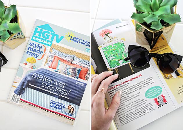 HGTV Magazine - A Beautiful Mess Press Photos
