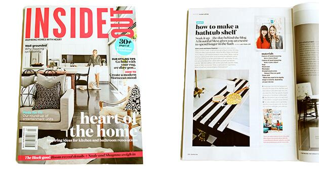 Inside Out Magazine - A Beautiful Mess Press Photos
