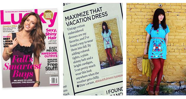 Lucky Magazine - A Beautiful Mess Press Photos