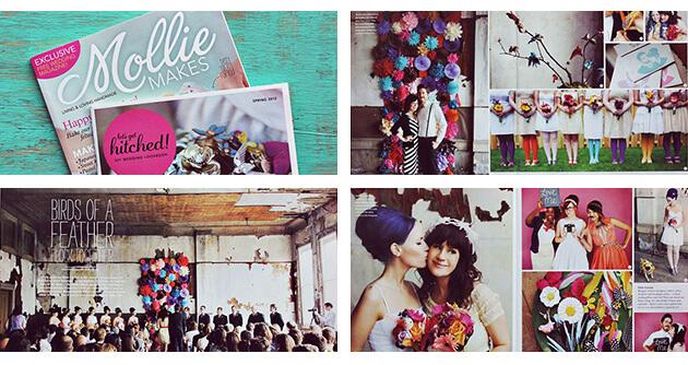 Mollie Makes Magazine - A Beautiful Mess Press Photos