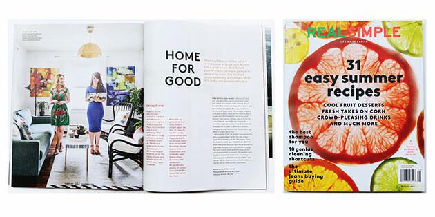 Real Simple Magazine - A Beautiful Mess Press Photos