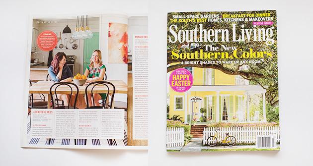 Southern Living Magazine - A Beautiful Mess Press Photos